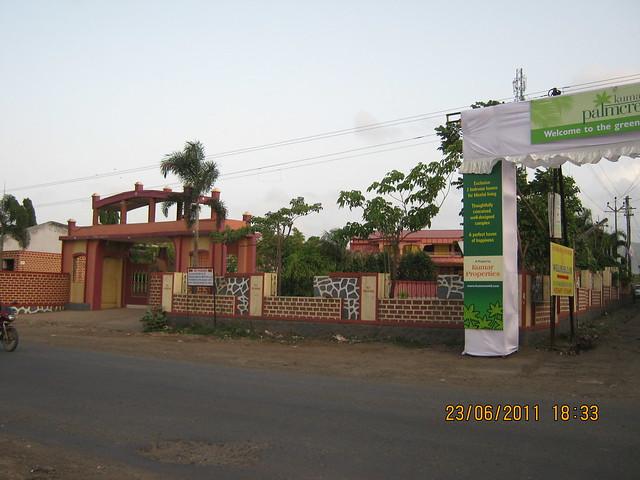 Savitiri Palace Mangal Karyalaya, on Khadi Machine Chowk (Kondhwa Road) to Undri Chowk - Kumar Properties' Kumar Palmcrest - 2 BHK Flats - off Katraj to Saswad Road - Pisoli Gram Panchayat, Pune 411 028 is behind!
