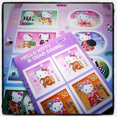 今日の切手1 歌舞伎キティ。シールタイプ。