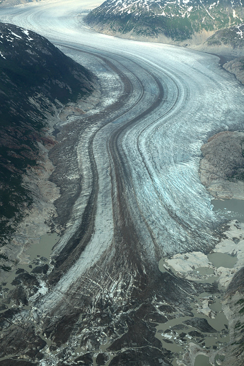 aerial photo of glacier, Southeast Alaska