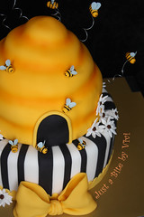 Bumble Bee (2) (Vivi :o)) Tags: baby yellow cake by daisies shower nc charlotte stripes bee just bite bumble vivi hive decorated fondant
