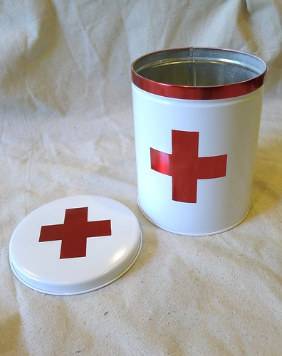Angle First Aid Tin Open