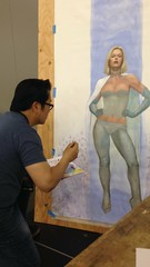 Frank Cho at work (Essexive) Tags: emmafrost bigwow frankcho whitequeen bigwow2014