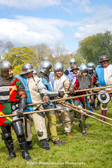 [2014-04-19@15.05.11a] (Untempered Photography) Tags: history costume fight helmet battle medieval weapon knight shield combat armour reenactment skirmish combatant chainmail spear canonef50mmf14 perioddress polearm platearmour gambeson poleweapon mailarmour untemperedeye canoneos5dmkiii untemperedeyephotography glastonburymedievalfayre2014