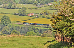 Sweeping through the Strettons (Jim the Joker) Tags: train railway brush churchstretton class47 type4 allstretton 47805 47853 5z74 themarchesline