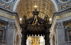 Bernini, Baldacchino, top