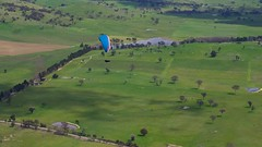Allister scratching back out (overflow50) Tags: paragliding paraglider canberra spring springhill sky clouds