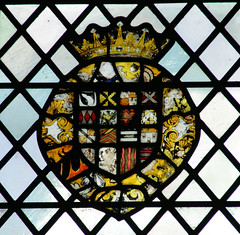 Magdalene College, Cambridge: Chapel (beery) Tags: magdalene cambridge england cambridgeshire university college arms heraldry glass stainedglass window