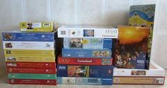 Frisch eingetroffen! (Leonisha) Tags: puzzles jigsawpuzzle puzzleschachteln puzzleboxes