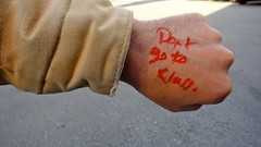 Don't Go to Class (Lynn Friedman) Tags: school hand arm class note fist truant delinquent skippingschool lynnfriedman