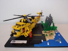 Sea King HAR Mk3 001 (chrispGL) Tags: lego helicopter sar raf seaking