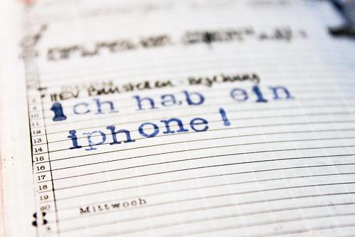 """Agenda """"ich hab ein iphone!"""""""