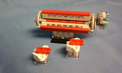 The Old Dominion Cargo & Passenger Carrier & Escort (Tervlon) Tags: lego space scifi microspace microscale