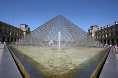 louvre 12 (tomsteele) Tags: paris fountain museum palaisdulouvre musedulouvre pyramidedulouvre
