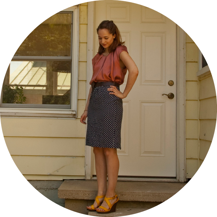 30for30 thirty dashdotdotty dash dot dotty style blog joie dress-as-top polka dot skirt wedges thrifty