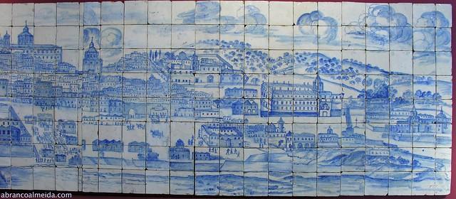 Lisboa Antes Terramoto 1755 Painel Azulejos XVII