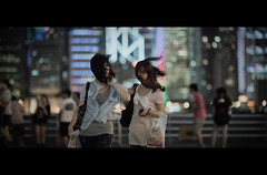 This time of the Year (James Yeung) Tags: street girls light cinema beautiful night hair movie hongkong pretty skyscrapers candid cinematic typhoon