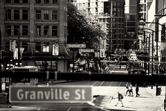 Cordova Street View (Junnn) Tags: street blackandwhite bw canada vancouver osanpo 200mmf28 canonef200mmf28liiusm canoneos5dmarkii silverefexpro2