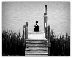 Evening's Introspection ~~~ (linnyfal) Tags: bay alone watersedge meditation timeout deepinthought soulful introspection prettywoman bythewater deepbreath alonewithyourthoughts blinkagain linnyfal