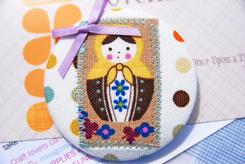 Textile Brooch by Once upon a time in the north