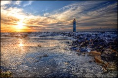 Perch Rock Lighthouse (G8lite) Tags: sunset nikon hdr rivermersey tonemapping perchrocklighthouse d7000 g8lite