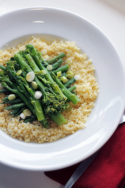 Green Beans, Broccoli and Bulgur Weat