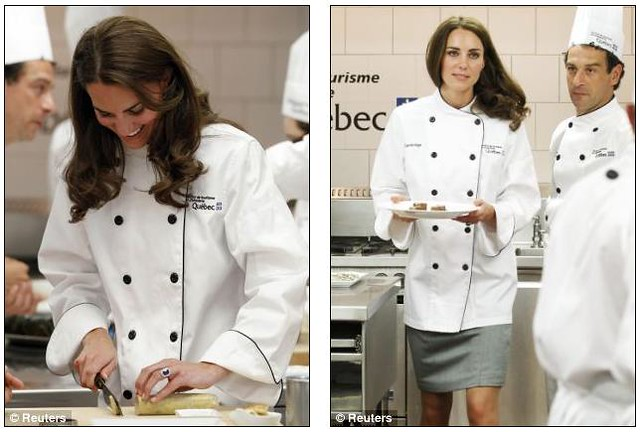 she can cook! Kate serves up a treat as she reveals her talent in the kitchen..  William  5