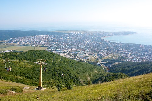 Вид на Геленджик с вершины горы