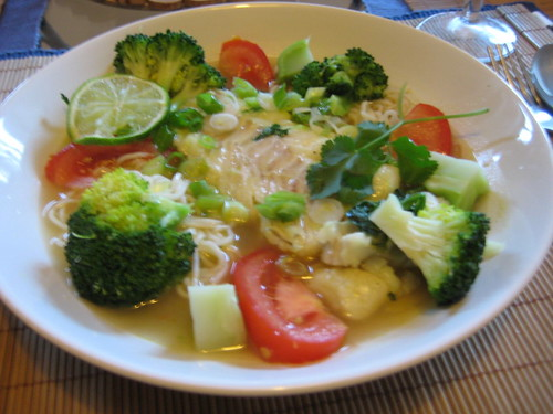 Ginger-Lime Cod in a Bowl