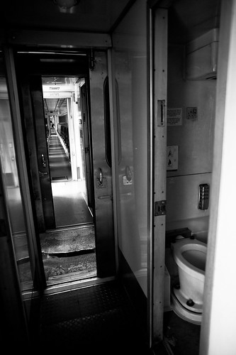 The small lavatory of the KTM train.
