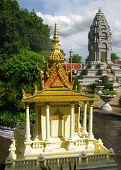 National Palace Spirit House & Stupa, Phnom Penh (adventurocity) Tags: travel vacation tourism photography photo shrine asia cambodia southeastasia king khmer photographer princess stupa buddhist religion picture kingdom buddhism visit tourist traveller adventure phnompenh spirituality visitor superstition royalpalace spirithouse traveler indochina leukemia kampuchea sihanouk kingdomofcambodia kanthabopha