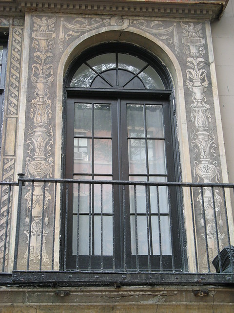 Sgraffito Facade Restoration Closeup, 20110708