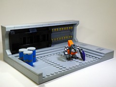 [Sword Base: Main Entrance] (Brickcentral) Tags: door purple lego main entrance halo scene sword vignette base grunt moc needler 24x16 brickarms bignette