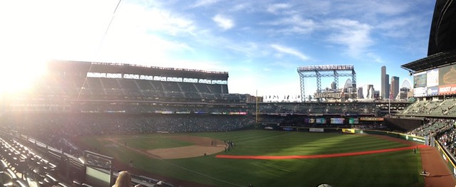 Quick iPhone panorama from #Safeco for @MARINERS opening day #Seattle