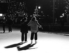 Helping Hand (Matthew Trevithick Photography) Tags: park winter friends people ontario cold london night downtown december matthew skating diner prince victoria rink als alberts trevithick 2011 matthewtrevithick mtphotography
