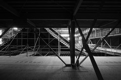 You Could Have an Aeroplane Flying if You Bring Your Blue Sky Back (RobVSF) Tags: wood roof blackandwhite temple hall construction scaffolding voigtlander 12mm ultrawide rebuild heliar rinnoji sanbutsudo