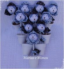 Flor Ursinho Marrom e Azul - Cludia (Marias e Mimos) Tags: flordetecido ursosdetecido ursinhomarromeazul decoraomarromeazul lembrancinhamarromeazul tricicloemmdf carrodemoemmdf