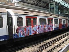 Jamie RIP District Line graffiti (duncan) Tags: london graffiti jamie rip londonunderground earlscourt districtline 2012 windowdown jamierip