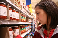 87/365 (gina.blank) Tags: food woman selfportrait shopping person brunette groceries selfie cannedgoods yeg project365