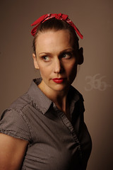 126/366 - Rebecca the Riveter (.avina.) Tags: rosietheriveter day126 2470mm alienbees pocketwizards strobist ab800 nikond700 stripbox 365the2012edition