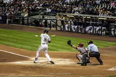 Ryan Braun (CJ Schmit) Tags: wwwcjschmitcom 5dmarkii canon canon5dmarkii cjschmit cjschmitphotography tamron70200mmf28dildifmacroaf ryanbraun milwaukeebrewers mlb atbat baseball milwaukee wisconsin cincinnatireds millerpark bat umpire catcher batter featuredonadidapcom