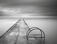 Not swimming weather (James ~ Anderson) Tags: sea beach pool monochrome canon grey bay coast kent seaside big long exposure day steps east filter lee nd 1750 06 tamron tidal margate graduated stopper walpole 550d