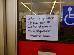 Temporary closure note - Kmart (Nicholas Eckhart) Tags: ohio usa retail america us discount departmentstore oh closing stores kmart 2014 conneaut