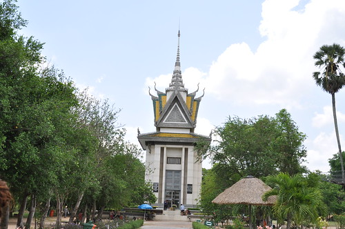 Skulls stupa at Choeung Ek Killing Fields