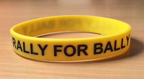 Elena Baltacha - Rally for Bally wristband