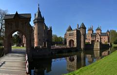 Pays-Bas - De Haar - chteau (AlCapitol) Tags: paysbas dehaar chteaudedehaar castle nikon d800 reflet reflection canal