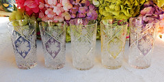 German Cut Crystal Highball Glasses Tumblers Colored Etched (Donna's Collectables) Tags: german cut crystal highball glasses tumblers etched thanksgiving christmas