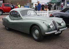 1954 Jaguar XK120 (428 XUX) 3400cc - Donington Park 2016 (anorakin) Tags: 1954 jaguar xk120 428xux 3400cc doningtonpark 2016