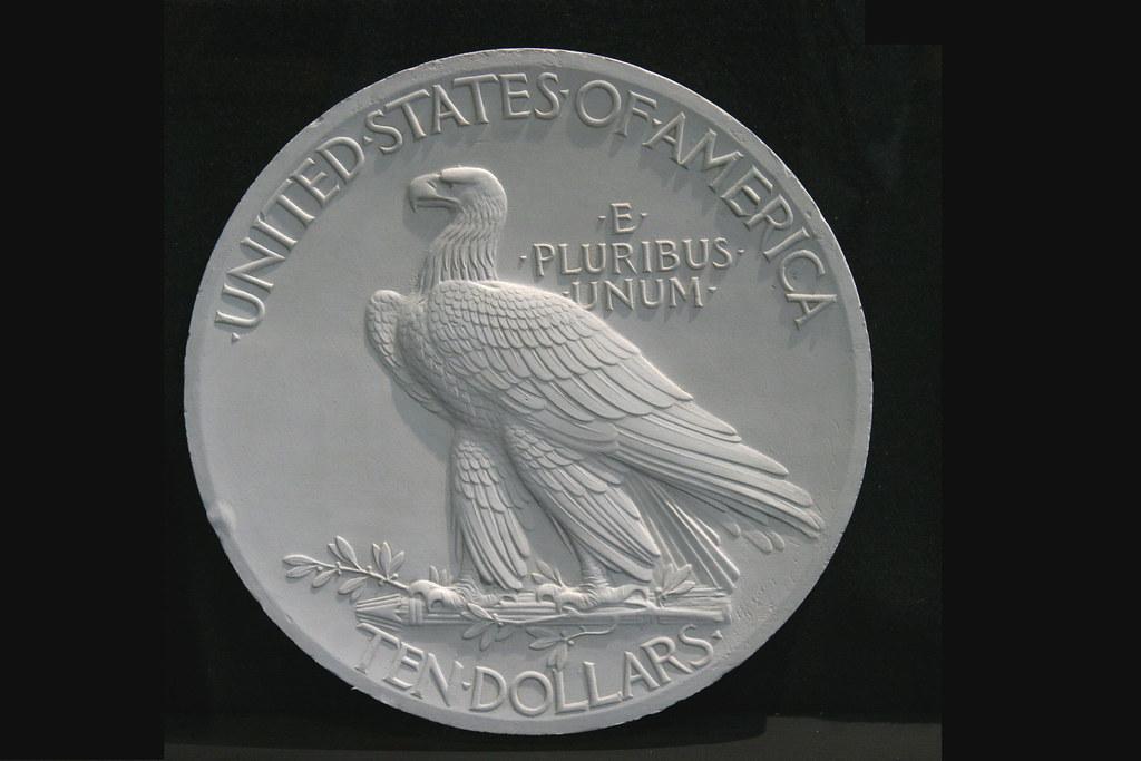 Saint-Gaudens' model for the 1907-1933 ten-dollar gold coin