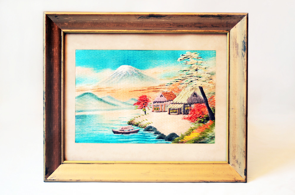 Vintage Bunka Embroidery Artwork