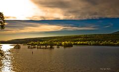 Sunset at Blue Mountain Lake Arkansas (Tony-Bui) Tags: sunset sky cloud mountain lake nature water grass photography cypress arkansas toning photocontesttnc11